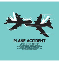 Plane accident vector