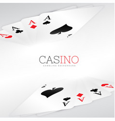 playing cards background design vector image