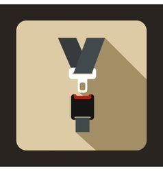 Safety belt icon flat style vector image vector image