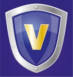 Sapphire shield vector