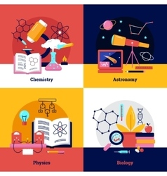 Science square banners vector