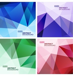Set of Bright Colorful Abstract Geometric vector image