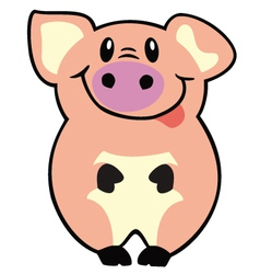 simple pig vector image vector image