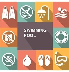 Swimming sign icon pool swim symbol sea wave vector