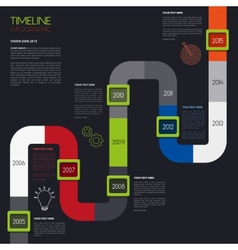 timeline infographic Modern simple design vector image vector image