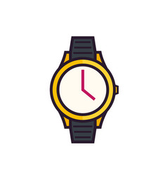 watch icon on white vector image vector image