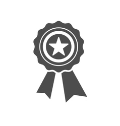Best first prize medal icon vector