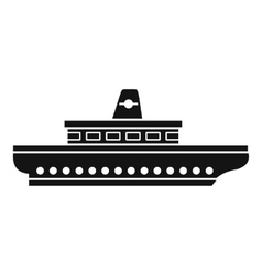 Passenger ship icon simple style vector