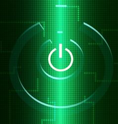 Digital turn on symbol vector