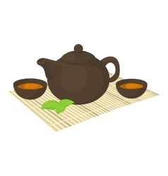 Tea ceremony icon cartoon style vector
