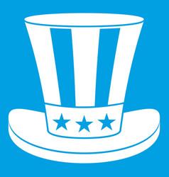 American hat icon white vector