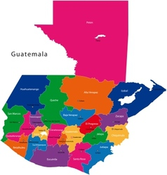 Guatemala map vector