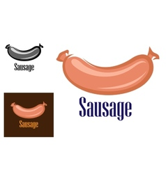 Colored sausage cartoon icon or logo vector
