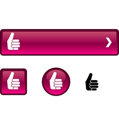 Good button set vector