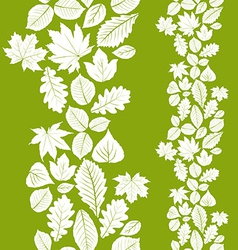 Leaves seamless wallpaper background natural vector