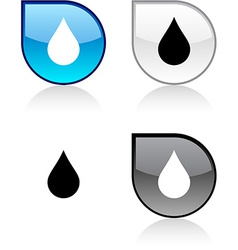 Rain button vector