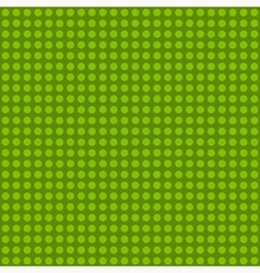 Seamless green polka dot patternn vector