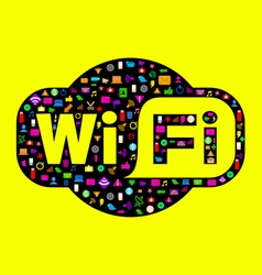 Wifi icons digital vector