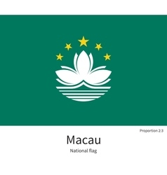 National flag of macau with correct proportions vector