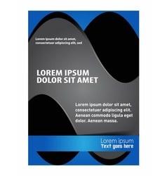 Presentation of poster flyer design editable vector