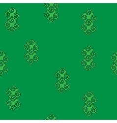Spiral abstract green seamless pattern vector