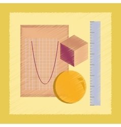 Flat shading style icon geometry lesson vector