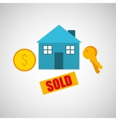 Sale house home sold business vector