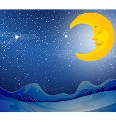 A sleeping moon vector image vector image
