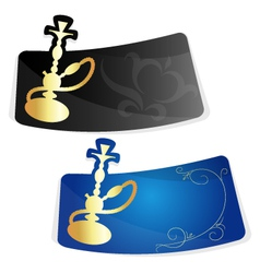 advertising sticker for hookah vector image