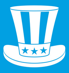 american hat icon white vector image