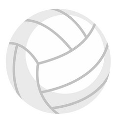 Ball for playing volleyball icon isolated vector