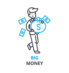big money concept outline icon linear sign vector image vector image