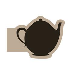 black figure teapot icon vector image