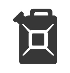 Black gasoline can isolated icon on white vector