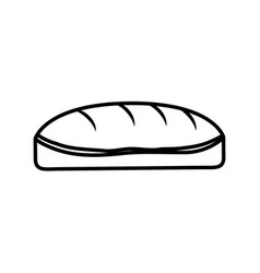 Bread dessert bakery food outline vector