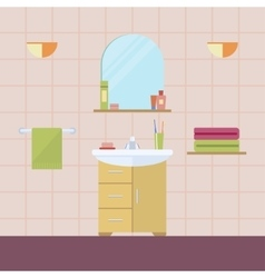 Element of the interior bathroom vector image vector image