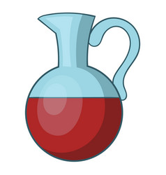 Glass jug of wine icon cartoon style vector