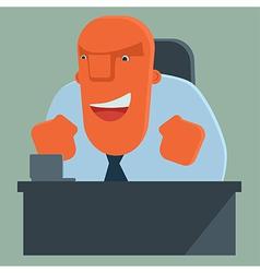 Happy boss rejoices vector image vector image