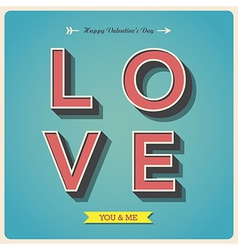 Happy valentines day poster vector