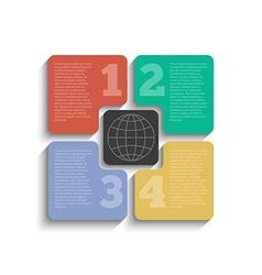 Infographic design 5 colorful element concept vector
