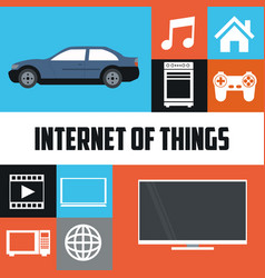 Internet of things technology communication smart vector
