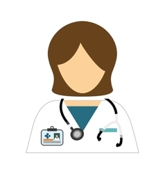 medical woman icon vector image