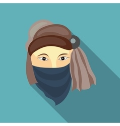 Muslim man icon in flat style vector