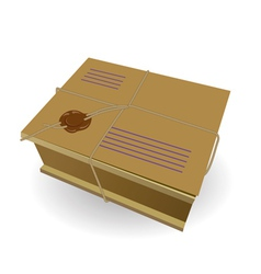 package the wooden box vector image