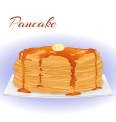 Pancakes with honey and butter for shrove tuesday vector