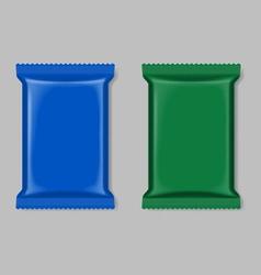 Polymer packaging set vector