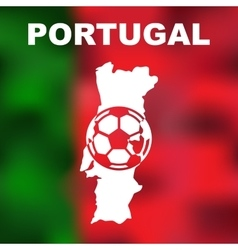 Portuguese abstract map vector