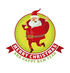 Santa with big bag vector