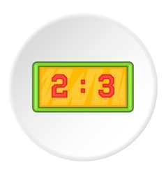Scoreboard icon cartoon style vector