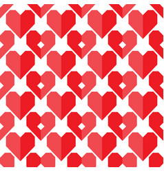 Seamless geometric heart pattern vector